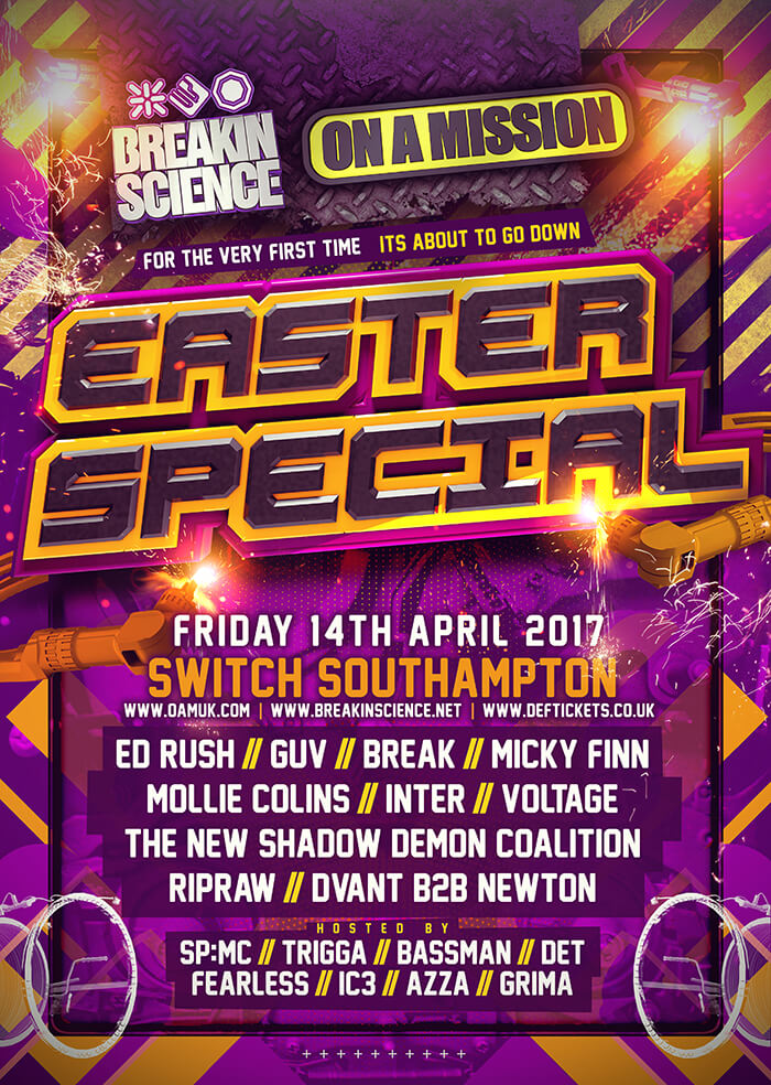 On A Mission and Breaking Science Easter Special Flyer