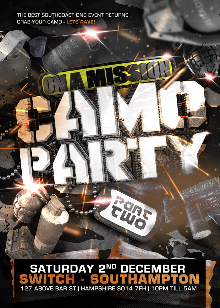 Camo Party 2017 Flyer