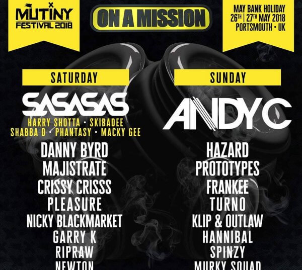 On A Mission Mutiny Festival 2018 Lineup